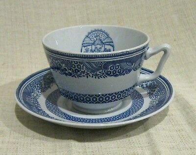 Spode Heritage Blue Oversized Breakfast Cup and Saucer