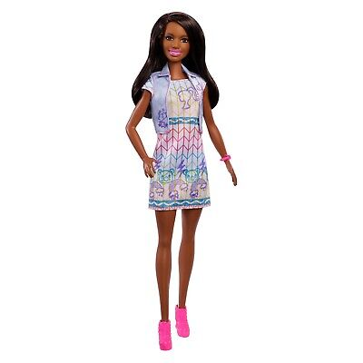 Barbie Crayola Color Stamp Fashion Nikki Doll NEW