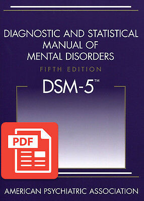 DSM-5 Diagnostic and Statistical Manual of Mental Disorders 5th Edition PD'f