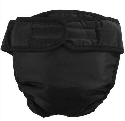 2 New, Small Reusable Female Dog Diapers, Black