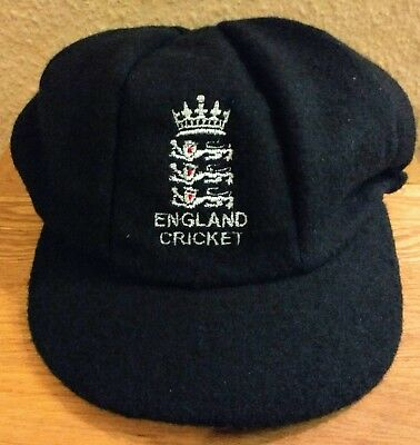 Trad. Style England Navy Blue Woolen Cricket Caps, L & XL @ Only £15.95p Each