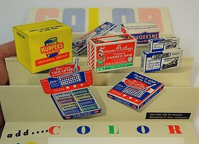 RARE Color Advertising POP-UP Boxes Store Display - Raymond Adams Boston 1940s