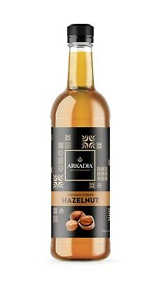 750ml Arkadia ** HAZELNUT ** Flavoured Premium Syrup - Cafe Use SICILIA Coffee