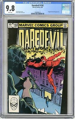 Daredevil CGC  #192   9.8   NMMT  White pages  3/83