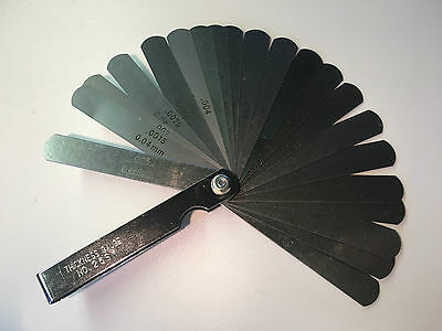 THICKNESS FEELER GAUGE 26 LEAVES .0015 - .025 INCH / 0.04 - 0.63 mm
