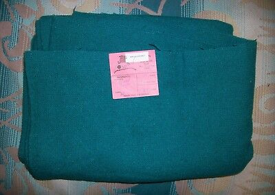 DORR MILL Teal Wool Rayon Fabric ~ Guild, New Hampshire Vintage 2.5 yards
