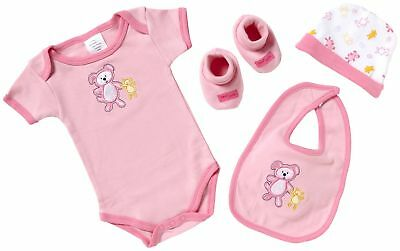 Playshoes Unisex Baby Layette Starter Set 4 Pieces Rose 0 - 3 Months