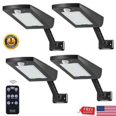 1~4PCS Outdoor LED Street Light 2400LM Dusk to Dawn IP65 Security Flood Lighting