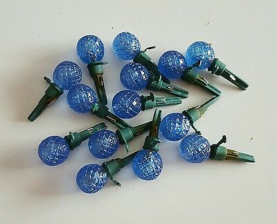 Lot Of 10 Blue Mini Led Replacement Christmas Bulbs Lights