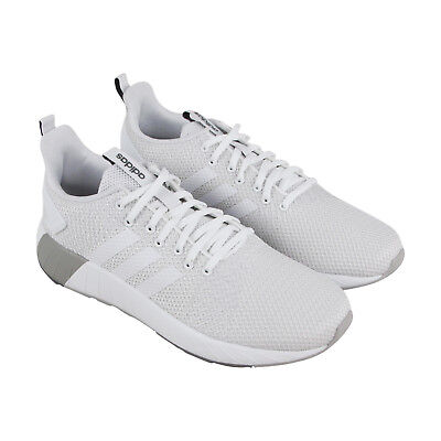 Adidas Questar Byd Mens White Mesh Athletic Lace Up Running Shoes