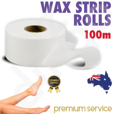 WAX STRIPS ROLLS 100m Depilatory Strip Roll Hair Removal Non Woven Disposable
