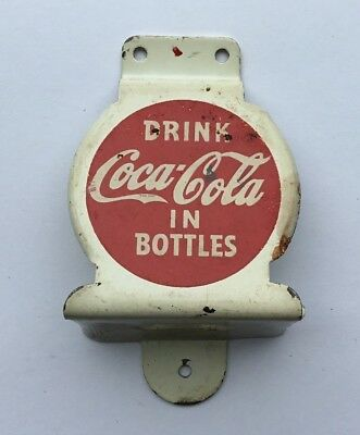 1950's Coca Cola Bottle Opener Wall Mount RED AND WHITE