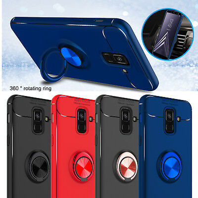 For Samsung Galaxy A6 2018 Case Shockproof Slim Ring Holder Cover With Kickstand