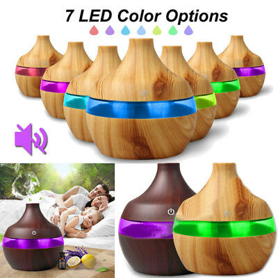 LED Ultrasonic Air Aromatherapy Purifier Aroma Diffuser Essential Oil Humidifier