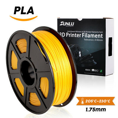 3D Printer Filament PLA 1.75mm 1KG/2.2LBS Spool Gold PLA Printer Filament