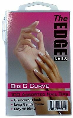 The Edge Big C Curve Nail Tip - Pack of 100