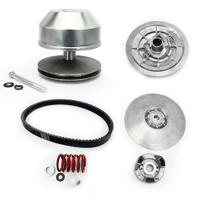 Drive + Secondary Driven Clutch + Belt Set for Yamaha Golf Carts Gas 4 Cycle 85+