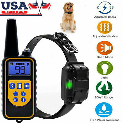 2600 FT Remote Dog Training Shock Collar Hunting Trainer Rechargeable Waterproof
