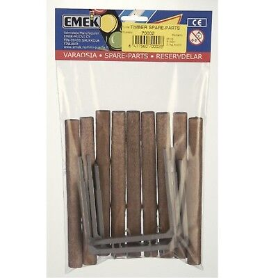 EMEK Logs and Log Supports - brown