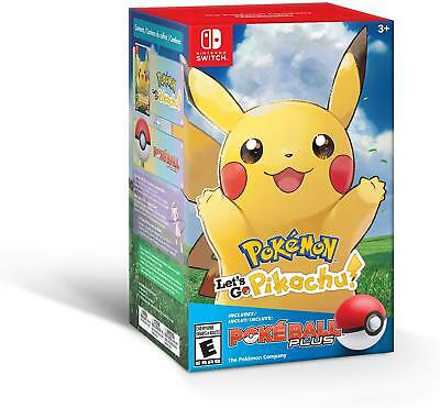 Nintendo Switch Pokemon Let's Go, Pikachu!, Eevee!, or Poké Ball Plus Controller