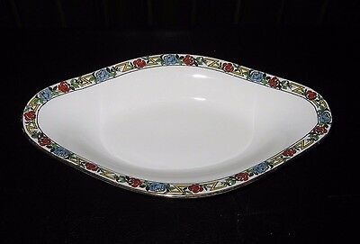 Antique Old Abbey Limoges France Relish tray Dish hand painted Floral
