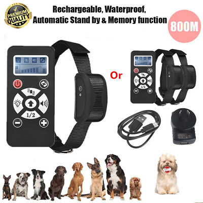 2 in 1 Remote & Auto Anti Bark Stop Barking Dog Training Collar Rechargeable AU