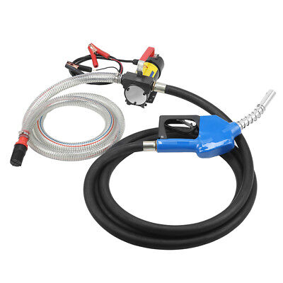 Portable 12V Diesel Fluid Extractor Electric Transfer Pump Car Fuel Auto T9