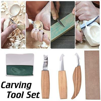 5Pc Spoon Carving Cutter Woodcarving Tool Crooked Peeler Hooked Whittling Cutter