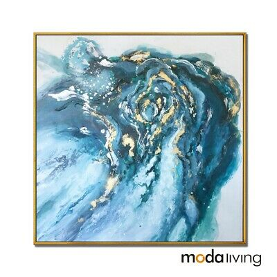 New Hand Painted Oil Painting Modern Abstract Canvas Wall Framed Home Decor