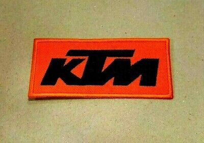 Embroidered Patch Iron Sew Logo KTM MOTORCYCLE RACING TEAM BADGE BIKER SPORTS