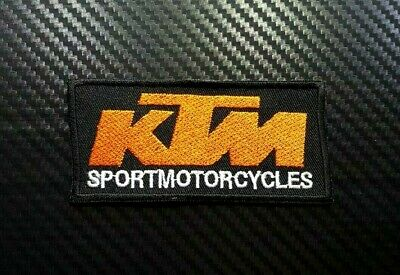 Embroidered Patch Iron Sew Logo KTM MOTORCYCLE RACING TEAM BADGE SPORTS BIKER