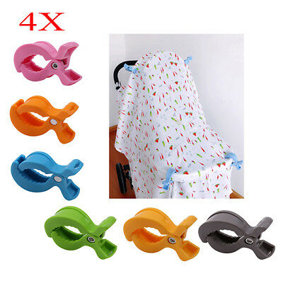 Stroller Pegs to Hook Muslin Blanket and Toy Car Seat Cover Clips Pram 6A