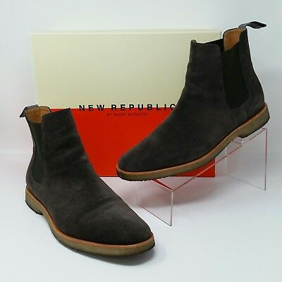 e3959eeb6e2 Mark McNairy New Republic (Men s Size 11) Suede Chelsea Boots Shoes  Brown Gray