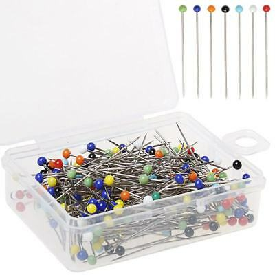 250 Pieces Sewing Pins Ball Glass Head Pins Straight Quilting Pins For Dressm B5