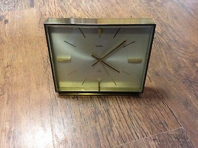 VINTAGE SWIZA 8 DAY 7 JEWELS ALARM CLOCK IN Working Order