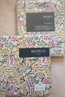 Bedeck One Pair Cotton Oxford Pillowcases Magenta Mix