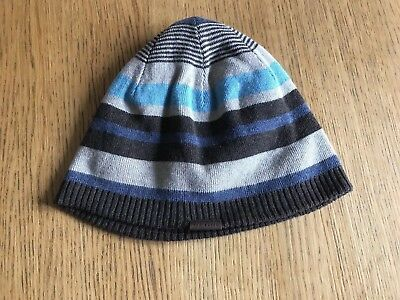 bbdcd660815 Mens Ted Baker Brown Blue Striped Beanie Hat