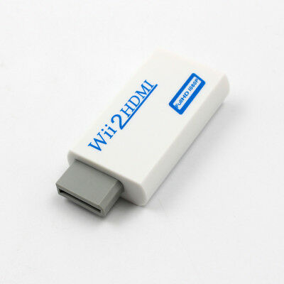 Wii Input to HDMI Full 1080P HD Audio Output Converter Adapter Cable 3.5mm Jack