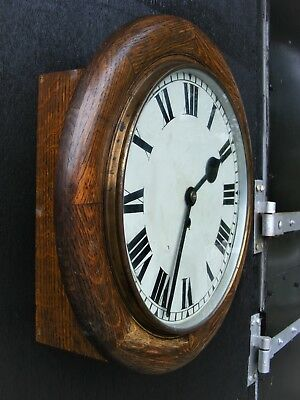 "Genuine Old 12"" Fusee Dial Clock, Tameside Good Working Order"