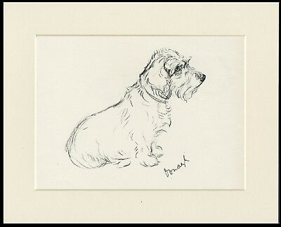 Wire Haired Dachshund Dog Print Ready Mounted Lucy Dawson Dog Art Print