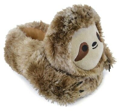 Childrens Girls Boys Novelty Sloth Slippers - Fun 3D Animal Design House Shoes