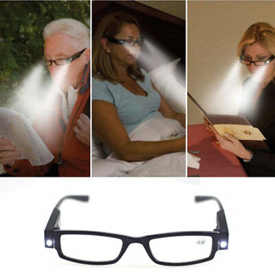 5c25d0bfd390 Multi Strength Eyeglass LED Reading Glasses Spectacle Diopter Magnifier  Light bo