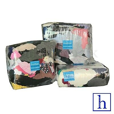 30KG Cotton Tshirt Mix Rags Wiping Cleaning Polishing Rag Cloths Wiper - HUMAC
