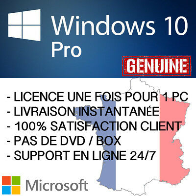 Windows 10 Pro 32/64bit | Original Activation à Vie Instant Delivery Télécharge