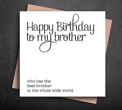 FUNNY BIRTHDAY CARD For Brother From Best Sibling Humour Comedy Rude Cards B38