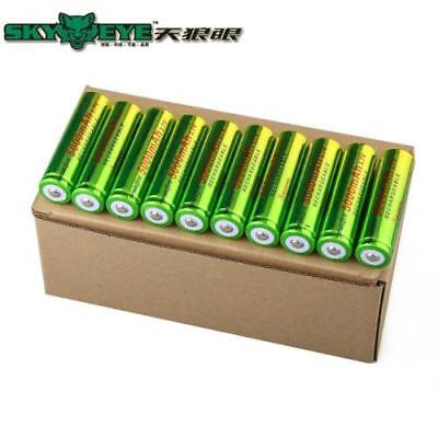 20X SkyWolfEye 18650 3.7V 5000mAh Li-ion Rechargeable Battery For Flashlight BK
