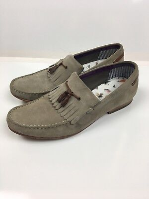 4a3a00b77 Ted Baker Dougge Loafer Suede Men s Grey Shoes Size 12 M