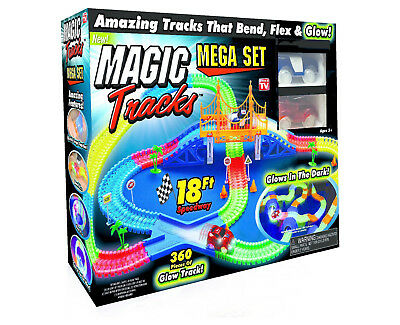 As Seen On Tv Magic Tracks Mega Set 360 Pcs 2 Cars 18 Feet Speedway