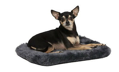 MidWest Deluxe Bolster Pet Bed for Small Dogs and Cats Soft Warm Plush Pet Nest