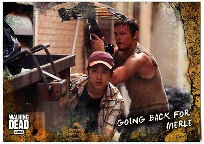 #10 Walking Dead Road To Alexandria 2018 Topps Rust Parallel Trade Card (C2103)